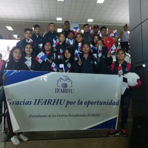 Becados de los Centros Estudiantiles viajan a Saragoza, España
